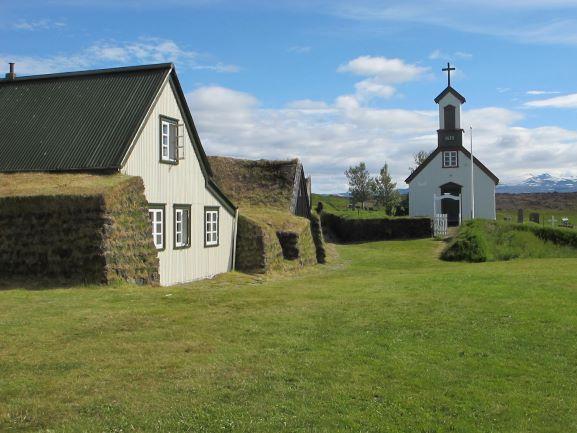 Kapelle des historischen Ortes Keldur