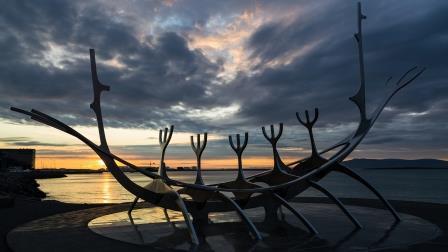 Sun Voyager Monument in Reykjavik