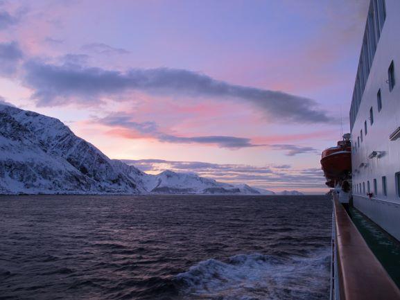 Kurs Richtung Süden an der norwegischen Küste entlang