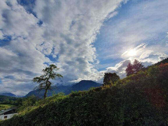 Eine Reise in das Berchtesgadener Land Wolken über Bad Reichenhall